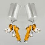 Набор краскопультов DeVilbiss GTi Pro Lite Gold (с алюминиевыми бачками)