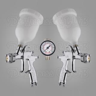 Набор краскопультов DeVilbiss FLG-5 + регулятор давления