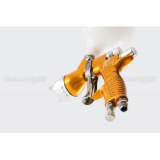 Набор краскопультов DeVilbiss GTi Pro Lite Gold (с алюминиевыми бачками) + регуляторы давления