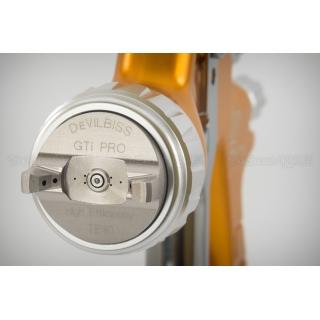 Краскопульт DeVilbiss GTi Pro Lite (с алюминиевым бачком) + регулятор давления