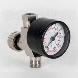 Регулятор давления воздуха DeVilbiss HAV-501-B с манометром