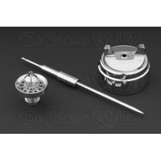 Ремонтный комплект (воздушная голова, дюза, игла) для краскопульта DeVilbiss GTi Pro (PRO-450-****-**)