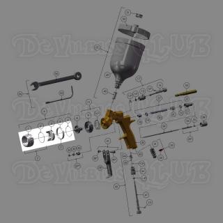 PRO-102-TE0-K | Воздушная голова DeVilbiss TE20 Trans-Tech для лака