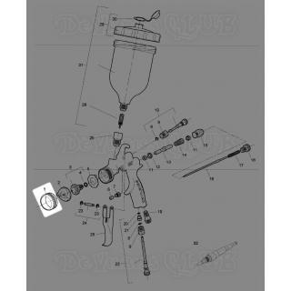 SGK-0023 | Прижимное кольцо воздушной головы FLG-5