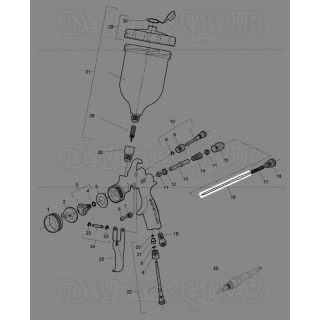 SGK-0414   Игла для сопла 1,4 мм для краскопульта DeVilbiss FLG-5