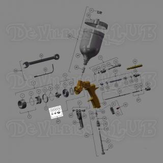 SN-404-K | Комплект из уплотнителя иглы, пружины и фиксатора